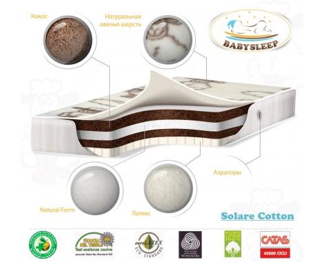 Матрас BabySleep Solare Cotton 160 х 80 см.