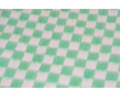 Байковое одеяло Ермошка в клетку 100 х 140 см.