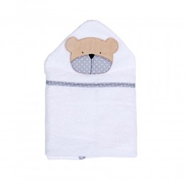 Полотенце для купания Белая коллекция Мишка 75 х 110 см.