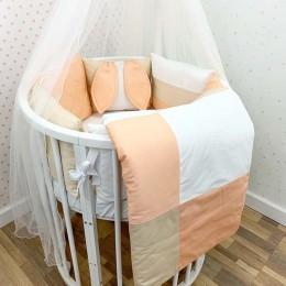 Комплект в кроватку Dreams Зайка в персиковом 5 предметов