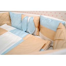 Комплект в кроватку Dreams Зайка в голубом 5 предметов