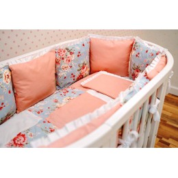 Комплект в кроватку Dreams Пионы 5 предметов