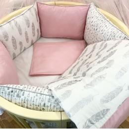 Комплект в кроватку Dreams Робин Гуд в розовом 5 предметов