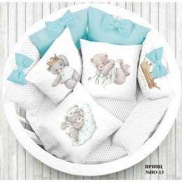 Универсальный комплект в кроватку Евротек Маленький принц 6 предметов