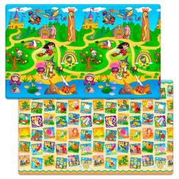 Детский двухсторонний игровой коврик Funkids Big-12 230 х 140 х 1,2 см