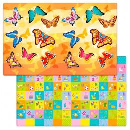 Детский двухсторонний игровой коврик Funkids Big-15 230 х 140 х 1,2 см Бабочки