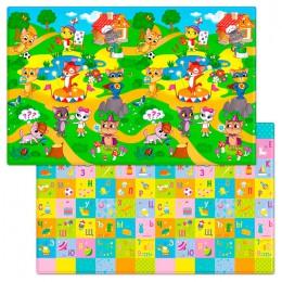 Детский двухсторонний игровой коврик Funkids Big-12 230 х 140 х 1,2 см Котики