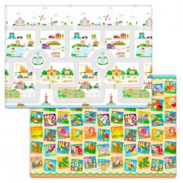 Детский двухсторонний игровой коврик Funkids Medium-12 200 х 140 х 1,2 см