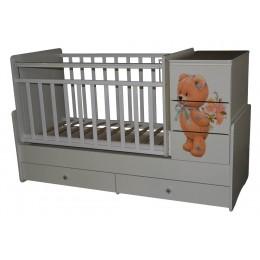 Кровать-трансформер Антел Ульяна-2 Мишка с букетом