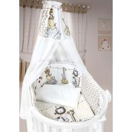 Комплект в кроватку Labeille Вечеринка маленького жирафа (овал) 8 предметов