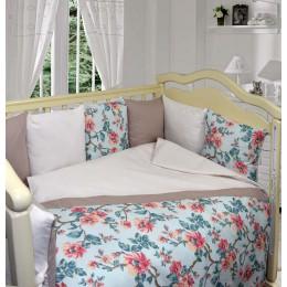 Комплект в кроватку Labeille Чайная роза 6 предметов