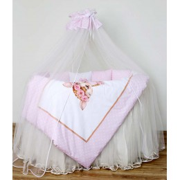 Универсальный комплект в кроватку Lappetti Балерина 7 предметов