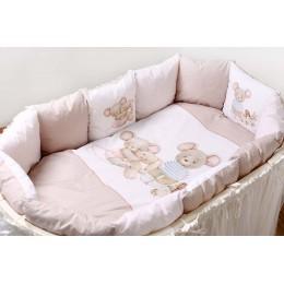 Универсальный комплект в кроватку Lappetti Little Mouse 6 предметов
