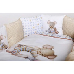 Универсальный комплект в кроватку Lappetti Мышки на облачке 6 предметов