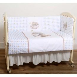Комплект в кроватку Lappetti Мышки на облачке 6 предметов