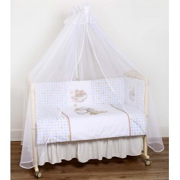 Комплект в кроватку Lappetti Мышки на облачке 7 предметов