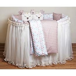 Универсальный комплект в кроватку Lappetti Скандинавия 6 предметов