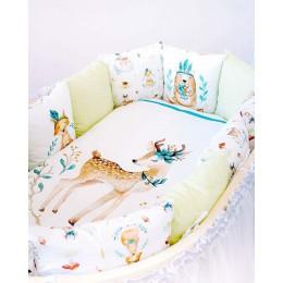 Универсальный комплект в кроватку Lappetti Волшебный лес 6 предметов