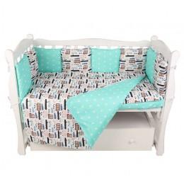 Комплект в кроватку AmaroBaby Трасса 15 предметов