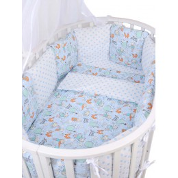 Комплект в кроватку AmaroBaby Маленький принц 15 предметов