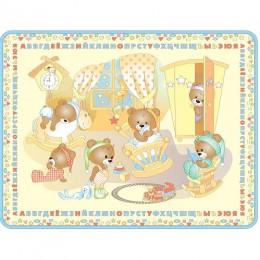 Игровой коврик Mambobaby Медвежата 200 х 160 х 0,5 см.