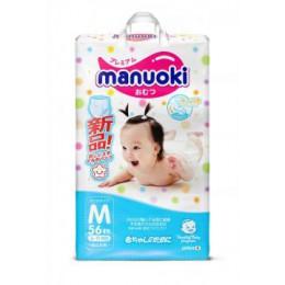 Японские подгузники-трусики Manuoki M (6-11 кг) 56 шт.