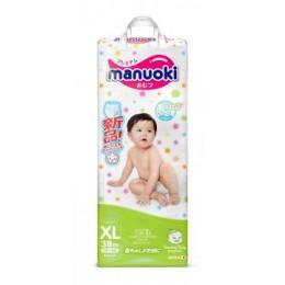 Японские подгузники-трусики Manuoki XL (12+ кг) 38 шт.
