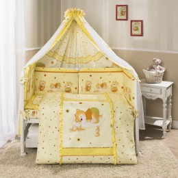 Комплект в кроватку Perina Ника Мишка на подушке 7 предметов