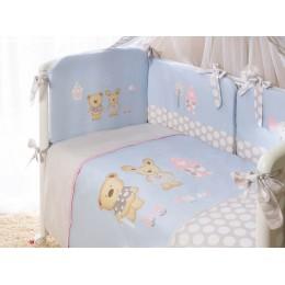 Комплект в кроватку Perina Венеция Лапушки голубые 3 предмета