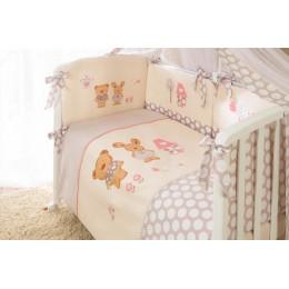 Комплект в кроватку Perina Венеция Лапушки бежевые 3 предмета