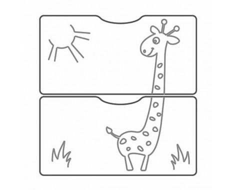 Кроватка-трансформер СКВ-5 Жираф 3 ящика