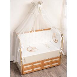 Комплект в кроватку Сдобина Счастливый мишка 7 предметов