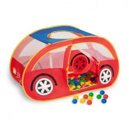 Игровой домик Sevillababy Автомобиль + 100 шариков