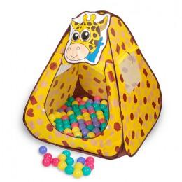 Игровой домик Sevillababy Жираф + 100 шариков
