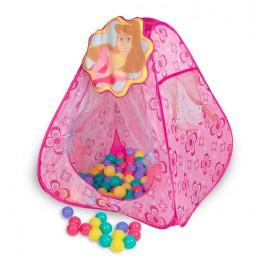 Игровой домик Sevillababy Принцессы треугольник + 100 шариков