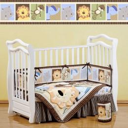Комплект в кроватку Shapito Leo Jungle 7 предметов