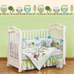 Комплект в кроватку Shapito Summer Owls 7 предметов