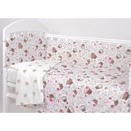 Комплект в кроватку Топотушки Фантазия Пироженки 6 предметов