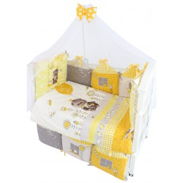 Комплект в кроватку Золотой Гусь Basik Village 6 предметов