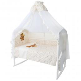 Комплект в кроватку Золотой Гусь Мишка-царь 8 предметов